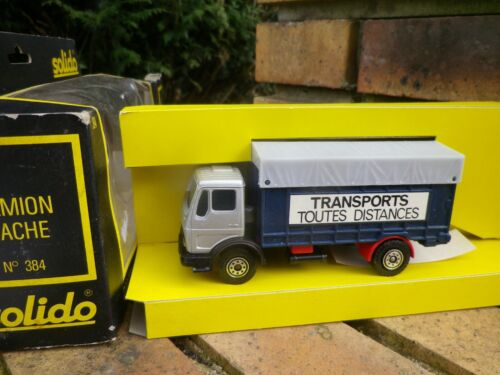 SOLIDO FRANCE n° 384 CAMION MERCEDES 1217 TRANSPORT COMME NEUF en boite