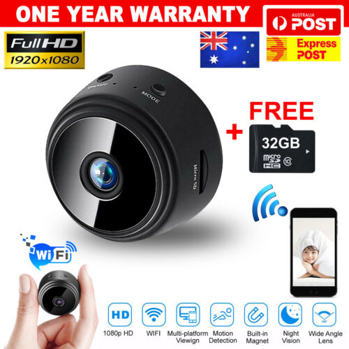 1080P HD Mini Wifi Wireless Camera Security IP Hidden Spy Cam Network Monitor