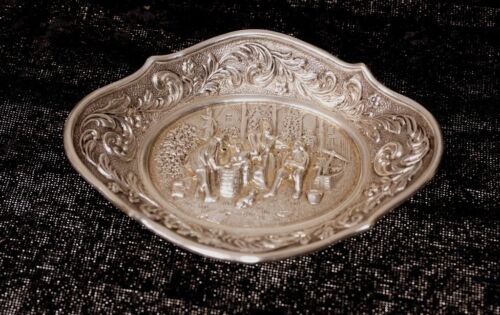 SILVER DISH COLONIAL ANTIQUE SMALL