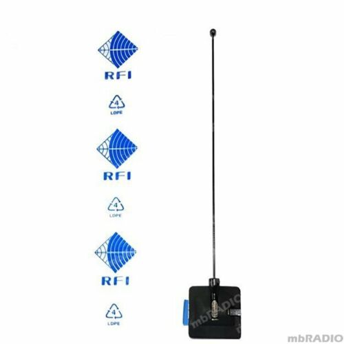 RFI ON-GLASS AP454-3G WHIP ANTENNA & MOUNT (400-520MHZ) INCLUDES CUTTING CHART