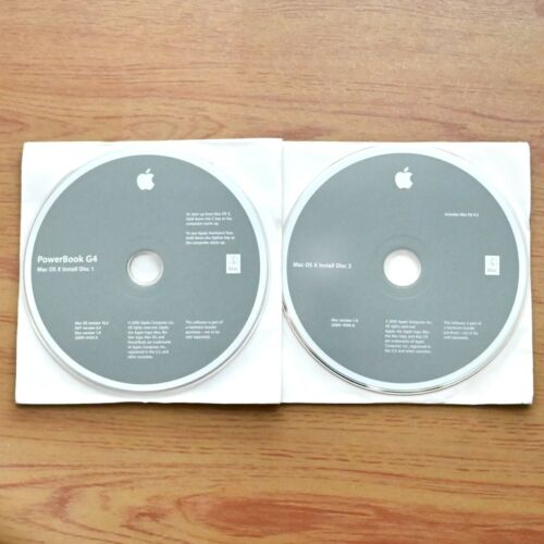 """PowerBook G4 12"""" Install and Restore Disc - HARD TO FIND - Free Shipping"""