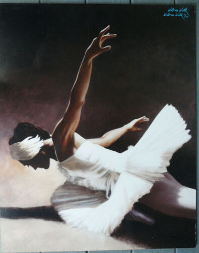 RARE WILLIAM WOLK LIMITED EDITION BALLET, BALLERINA LITHOGRAPH PRINT,7/40 SIGNED