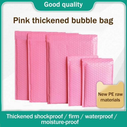 Pink Bubble Bag Mailer Plastic Padded Envelope Shipping Bag Packaging E9p8