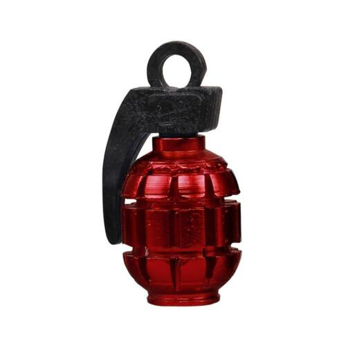 1pc Grenade Quality Alloy Metal Valve Dust Cap Cars Bmx Motorbikes Van Bike L4x8
