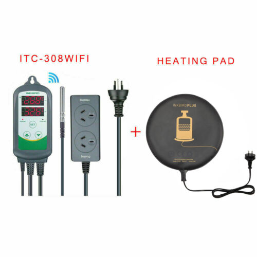 Inkbird ITC-308 Temp Controller Thermostat + Homebrew Seed Starter Heating Pad