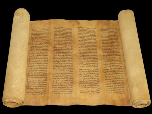 TORAH SCROLL BIBLE VELLUM MANUSCRIPT 300 YRS OLD MOROCCO COMPLETE Numbers Book