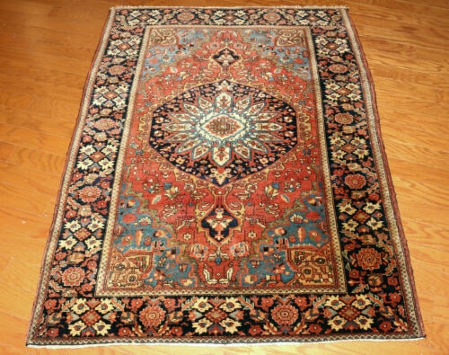 Antique Sarouk Oriental Rug  3x5ft.