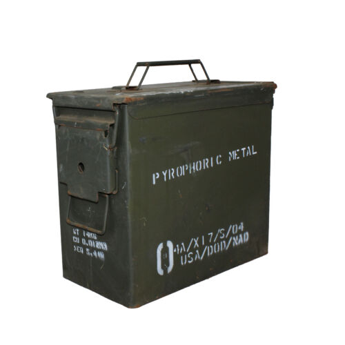 50 CAL Ammo Box tall version Ammunition Steel Box Tool Box Ex Army UsedOther Hunting - 383