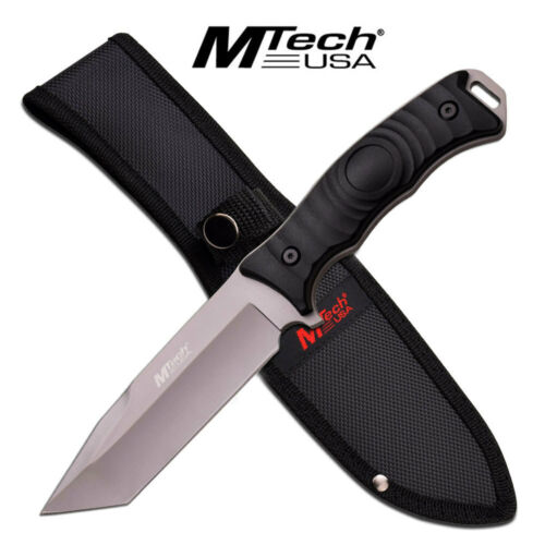"""New MTech USA 10"""" Tanto Grey Titanium Tactical Fixed Blade Knife MT-20-70TKnives - 42574"""