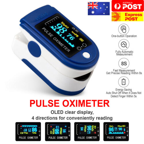 Professional Finger Pulse Oximeter Blood Oxygen Saturation Monitor Heart Rate <br/> 2200+ SOLD ❤ FDA Approved ❤ MEDICAL GRADE ❤ AU STOCK ❤
