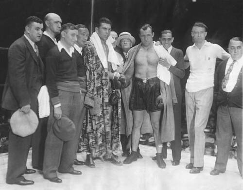 Max Schmeling And Jack Sharkey Pose For A Portrait 1930s OLD BOXING PHOTO