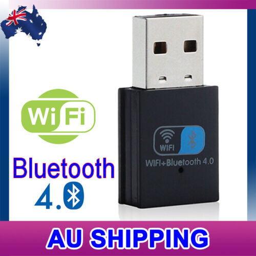 USB WiFi Wireless Bluetooth 4.0 Adapter Receiver Dongle Laptop AU