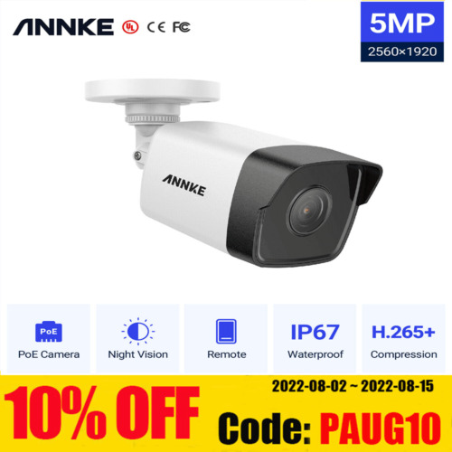 ANNKE 1X5MP HD PoE Security IP67 Camera Home Safety IR Night Vision Waterproof