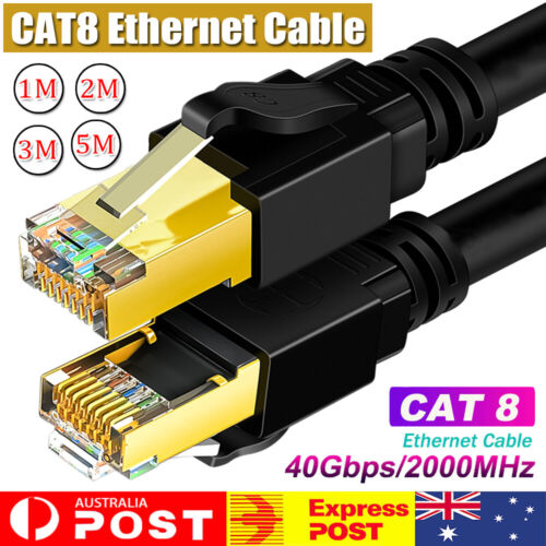 5M CAT8 Ethernet Cable Patch 40Gbps 2000Mhz High Speed Gigabit S/FTP LAN Network