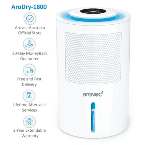 *AROVEC Upgraded Dehumidifier Large 1800ml Water Tank  Powerful AroDry-1800 <br/> *OFFICIAL STORE, 2-YEAR Warranty Robust & Fashionable*