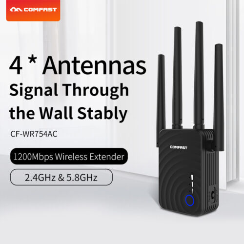 1200Mbps Dual Band 2.4G 5G Wifi Extender Repeater Range Booster Wireless Router