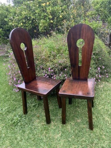 Wooden Gothic Keyhole Design Chairs
