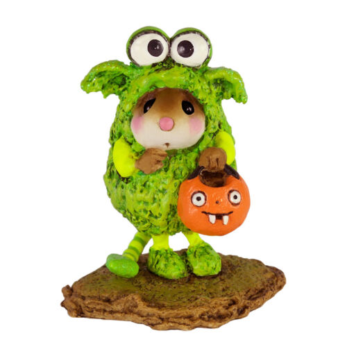 Wee Forest Folk LIL MONSTER, M-590, Halloween Mouse, Green