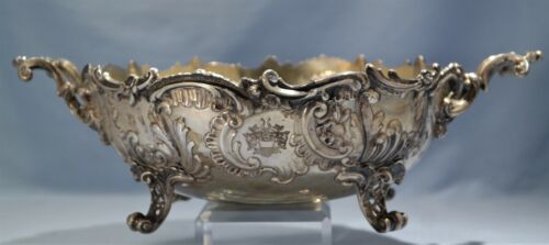 Gebruder Friedlander German 800 Hand Chased Repousse Footed Bowl