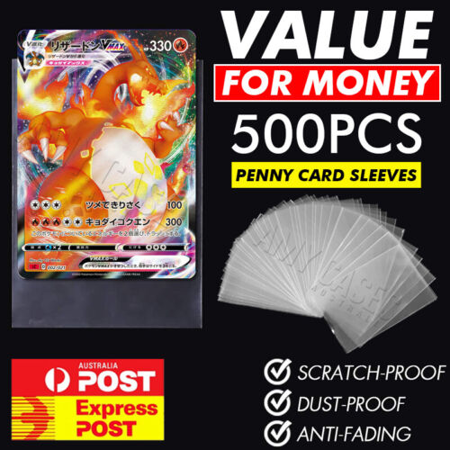 Ultra Soft Trading Card Sleeves Clear Penny Protector 100PCS Pokemon NBA YuGiOh
