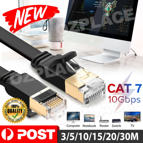 NETWORK ETHERNET CABLE CAT7 LAN 10GBPS RJ45 3M 5M 10M 15M 20M 30M Cable Cord