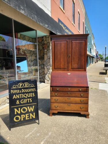 Outstanding Mahogany Secretary Crafted By Craftique 20th century