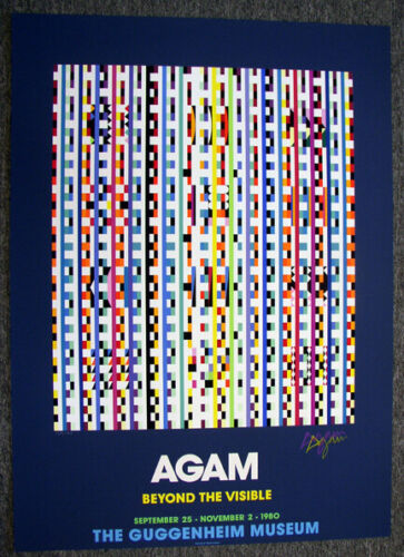 YAACOV AGAM signed numbered serigraph  BEYOND THE VISIBLE with text COA