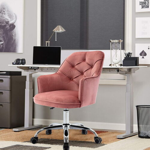 Velvet Office Chair Modern Velvet Swivel Desk Chair Height Adjustable Armchair