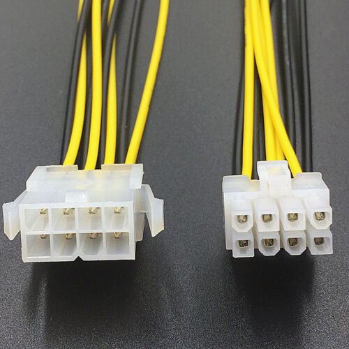 FT- FP- FP- 8Pin Male to Female CPU Motherboard Power Supply Cable Extension Cor