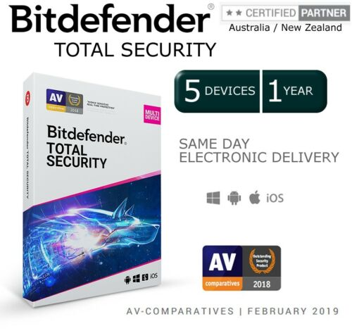 BitDefender Total Security 2020 - 5 Devices I 1 Year