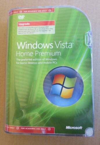 Windows Vista Home Premium Upgrade Edition (Academic Version) 32-Bit O/S