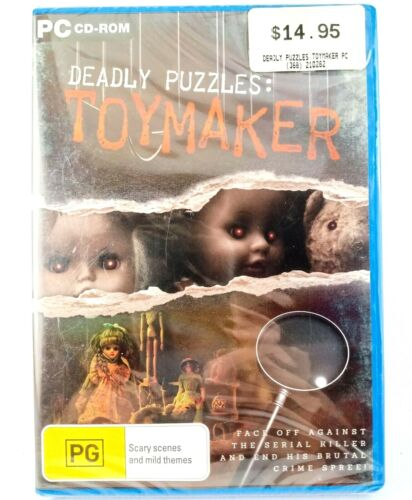 Deadly Puzzles: Toymaker CD ROM PC Game Win Vista / 7 / 8 Rated PG