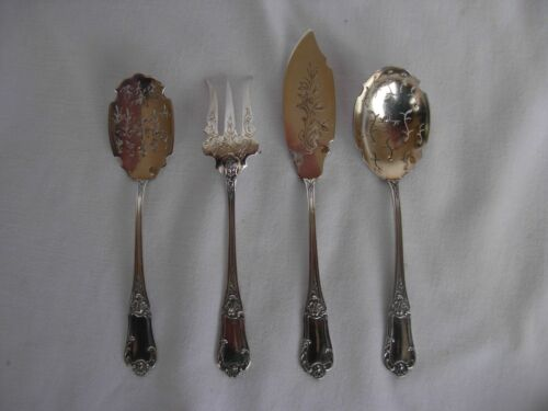 ANTIQUE FRENCH STERLING SILVER DESSERT SERVING SET,EARLY 20th CENTURY.