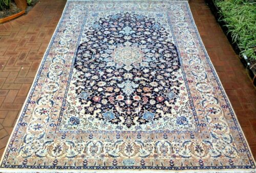 Nain Authentic Signed Hand-Knotted Wool and Silk Rug (375 cm x 245 cm)