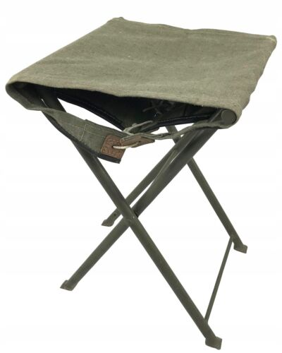 Folding canvas military chair from the Polish army Original Period Items - 13983