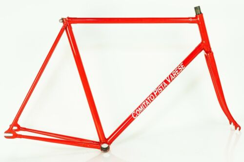 PINARELLO TRACK FRAME vintage 90s pista set steel bicycle size 56 57 fixed fixie