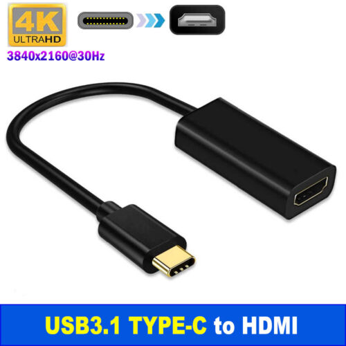 4K Type C USB-C to HDMI Adapter  USB C 3.1 Cable 30Hz For MacBook ChromeBook AU