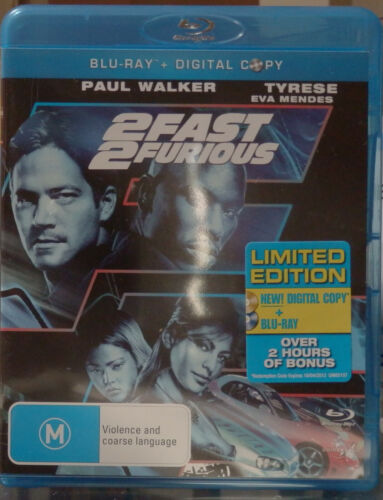 2 FAST 2 FURIOUS BLU RAY (2-DISC - BLU RAY & DVD) AS NEW - WATCHED ONCE