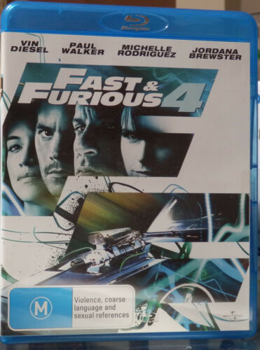 FAST & FURIOUS 4 BLU RAY - AS NEW CONDITION - WATCHED ONCE
