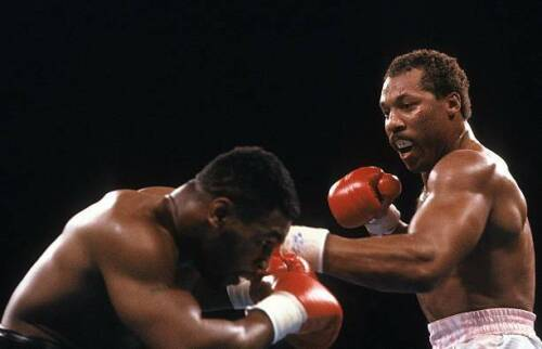Pinklon Thomas Throws A Punch v Mike Tyson 3 OLD BOXING PHOTO