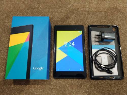 """Google ASUS Nexus 7 2013 (2nd Gen) 32GB Android Tablet 7"""" 1080P Wi-Fi NFC + Case"""