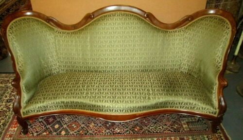 "RARE LAMINATED ROSEWOOD JOHN HENRY BELTER ROCOCO REVIVAL 82"" SOFA SCROLL PATTERN"