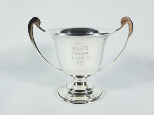 Antique Art Deco 1936 Sterling Silver Trophy Cup Swimming Diving Highgate School