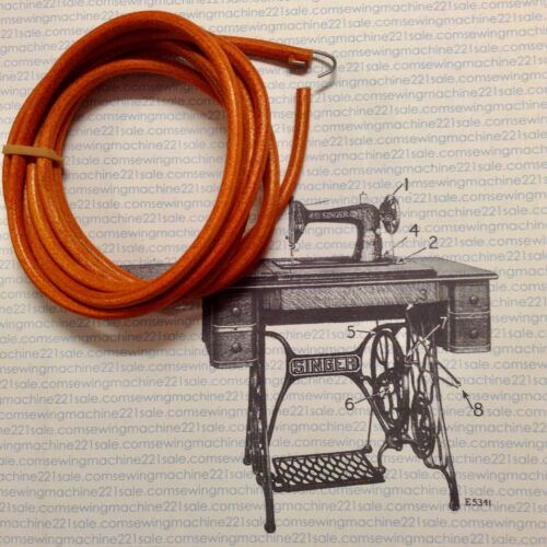 singer sewing machine treadle belt & maintenance kit (bin-03)
