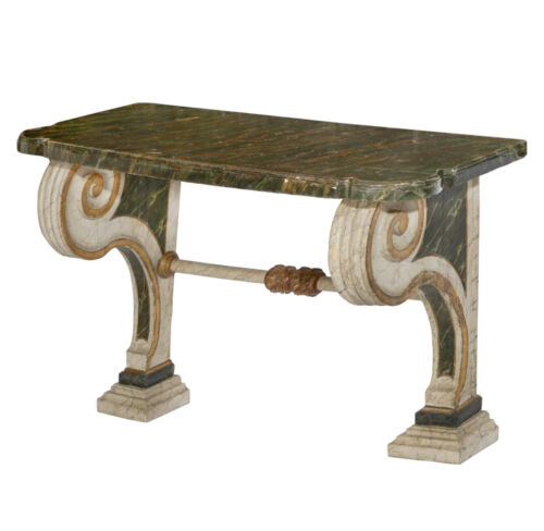 18th Century Italian Neoclassical Console Table With Scrolled Arms