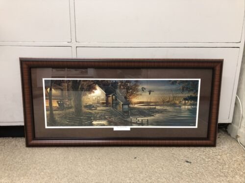"""TERRY REDLIN CUSTOM FRAMED / MATTED """"That special time"""" b14"""