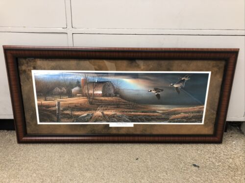 """TERRY REDLIN CUSTOM FRAMED / MATTED """"Stormy weather""""  B98"""