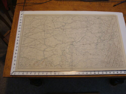 "1891 Civil War Map 18"" X 29"": Topographical Plate CXL: PITTSBURG, COLUMBUS,Maps & Atlases - 156381"