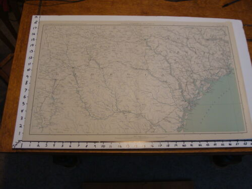 "1891 Civil War Map 18"" X 29"": Topographical Plate CXLIV: SAVANNAH, CHARLESTON,Maps & Atlases - 156381"