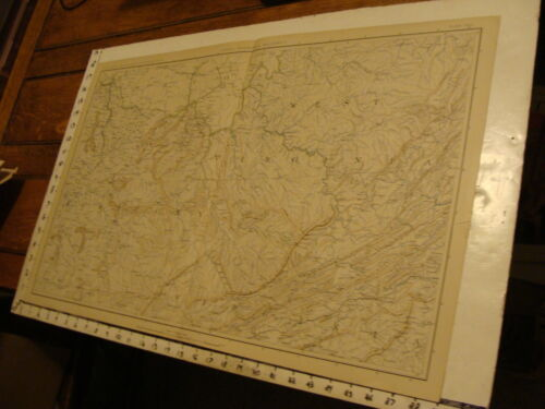 1890's Vintage CIVIL WAR MAP: plate CXLI General Topo map VIRGINIA, KENTUCKY ohiMaps & Atlases - 156381